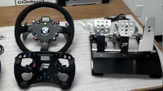 First Look: Fanatec ClubSport Wheel Base, BMW M3 GT2 Rim, Formula Rim, and V2 Pedals