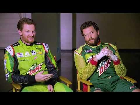 ESPN Anchor Kenny Mayne interviews Dewey Ryder and Dale Earnhardt Jr. | Mountain Dew