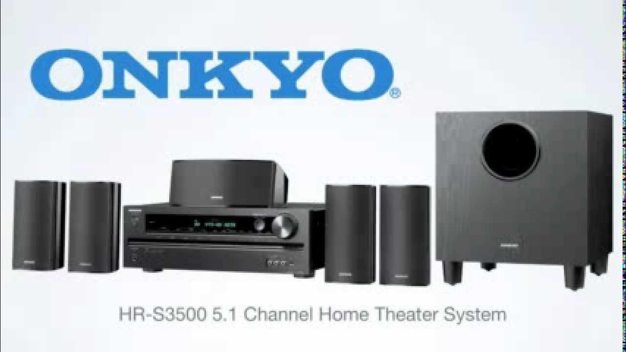onkyo ht s3500 5 1 channel home theater receiver speaker package youtube. Black Bedroom Furniture Sets. Home Design Ideas