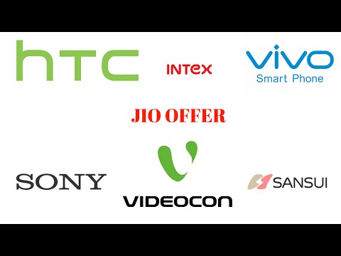 jio 4g offer in HTC VIVO INTEX SONY VIDEOCON AND SANSUI OFFICIAL UPDATE