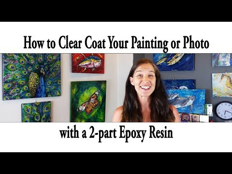 How to clear coat your art using a 2 part epoxy resin (Using ArtResin). A step by step guide