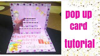 Tutorial | pop up card | happy birthday wakana muramatsu | easy diy |