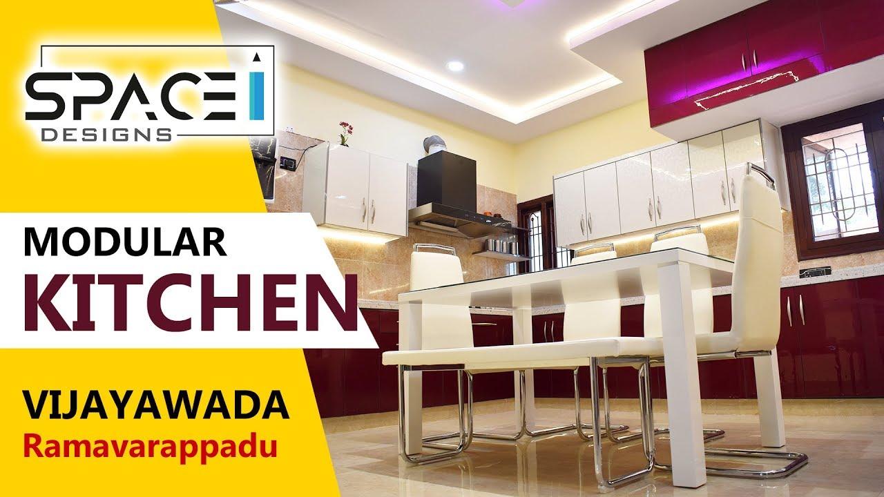 Modular Kitchen Design   By Space Designs Hyderabad & Vijayawada Ph  9