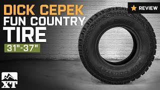 """Jeep Wrangler Dick Cepek Fun Country Tire (31""""-37"""") Review"""