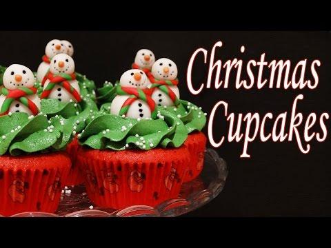 Receta De Cupcakes De Navidad Decorados Con Fondant Youtube