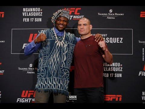 UFC Phoenix: Francis Ngannou vs. Cain Velasquez Media Day Staredown - MMA Fighting