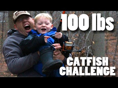 100 lb catfish challenge!!! - Fishing for catfish -  catching 100lbs of catfish! fishing challenge