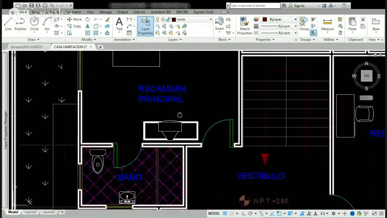 Planos de casa habitacion en dwg gratis youtube for Planos de casa habitacion
