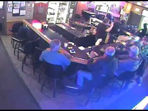 Surveillance video shows robbery at the Tap Inn (full video)