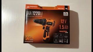 Розпакування акумуляторної дрилі-шуруповерта Daewoo DAA 1220Li з Rozetka.com.ua