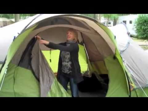 & Eco-friendly camping - Quechua pop up tent - YouTube