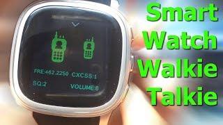 Smartwatch Walkie Talkie (Unboxing) // Comunicación por Radio hasta 2 Km // @Kickstarter