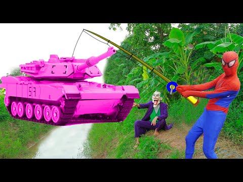 Xem phim Siêu nhân - Phim hành động bắn súng 2020   Người nhện và siêu nhân bắn súng Nerf   Nerf gun War #12
