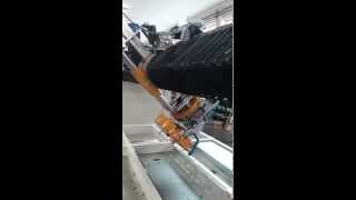 stone cutting at 45 degrees with achilli bridge saw mbs ts