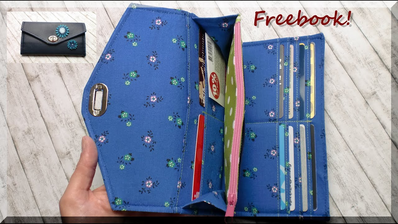 Portemonnaie LISANNE nähen / kostenloses e-Book von AKkreativ - YouTube