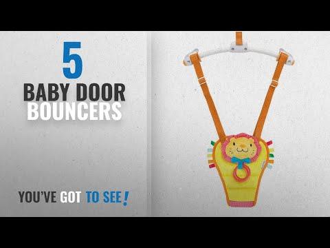 Top 10 Baby Door Bouncers [2018]: Munchkin Bounce And Play Baby Door Bouncer (Lenny The Lion)