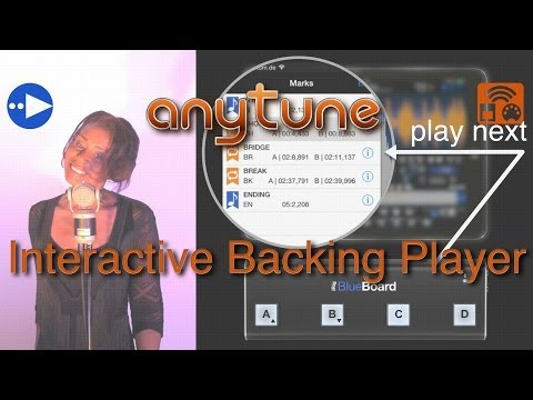 Anytune:  Backing Track Player with Remote Control – How to use Tracks for Band, Guitar, Singers
