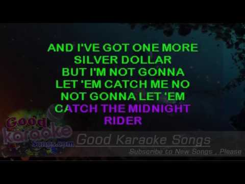 Midnight Rider -  The Allman Brothers Band (Lyrics Karaoke) [ goodkaraokesongs.com ]