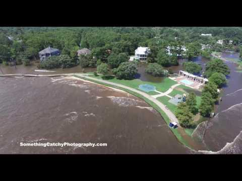 Drove video shows Tropical Storm Cindy flooding on Mandeville lakefront in late June.