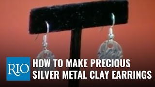 How to Make Precious Metal Clay Earrings - Silver Metal Clay