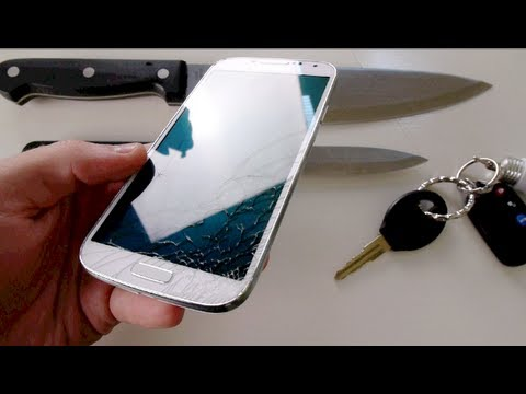 Samsung Galaxy S4 Knife Screen Scratch Test