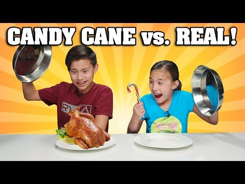 CANDY CANE VS. REAL FOOD CHALLENGE!!! Chicken Flavored Candy???! Mp3