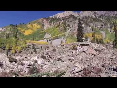 Hiking, Crater Lake Trail, Maroon Bells, Aspen, Colorado
