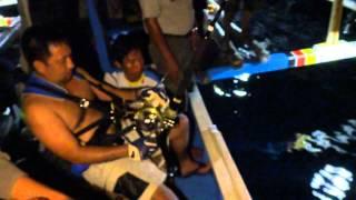 Philippines game fishing. 45 kg Yellwfin Tuna Night fighting