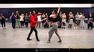 Bachata with Fabian and Nicolina at Tanssi Vieköön Festival