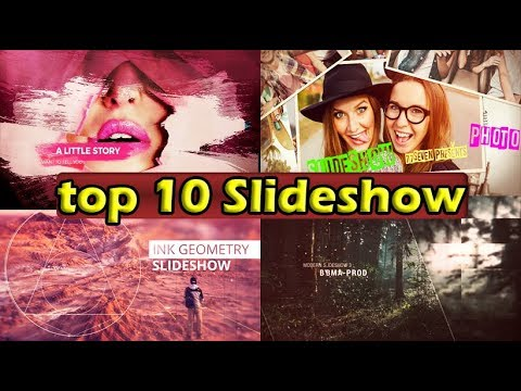 Top 10 Slide show Template Free After Effects 2018  💣