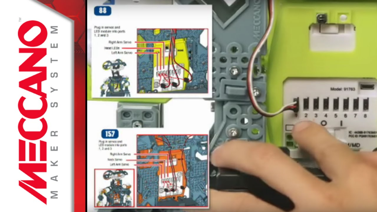 How To Build Meccanoid G15 G15ks Connecting The Electronics Youtube