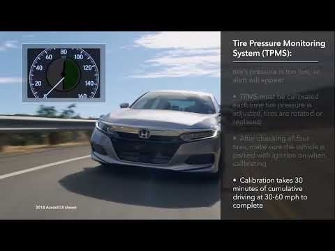 How to Calibrate the Tire Pressure Monitoring System (TPMS): 2018 Honda Accord LCD Audio Models