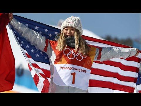 Chloe Kim wins gold in snowboarding halfpipe