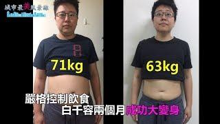 依靠多運動+多喝水+控制飲食 白千容讓肚子小了一大圈