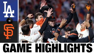 Donovan Solano walks it off in Giants' win | Dodgers-Giants Game Highlights 8/25/20
