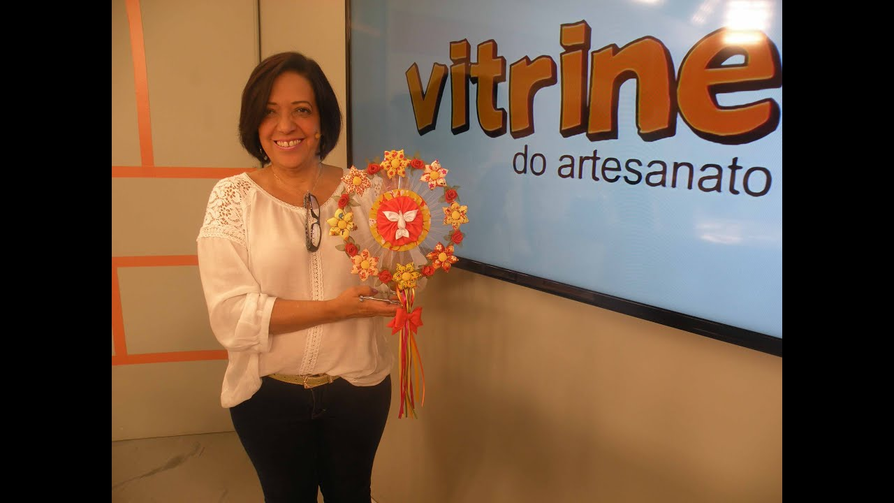 Enfeite Divino Espírito Santo com Yvone Lobato Vitrine do Artesanato na TV YouTube