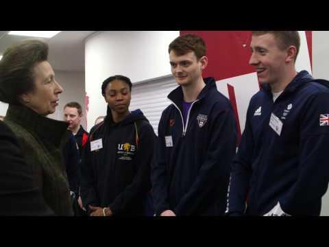 HRH The Princess Royal visits BUCS Nationals 2017