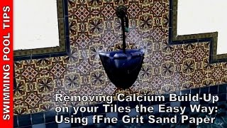 removing calcium build up from your pool tile line the easy way
