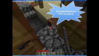 Minecraft - Como Fazer Uma Placa - Tutorial #3.