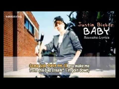 [Sing-Along] Justin Bieber - Baby - Lyrics on Screen (Acoustic).mp4