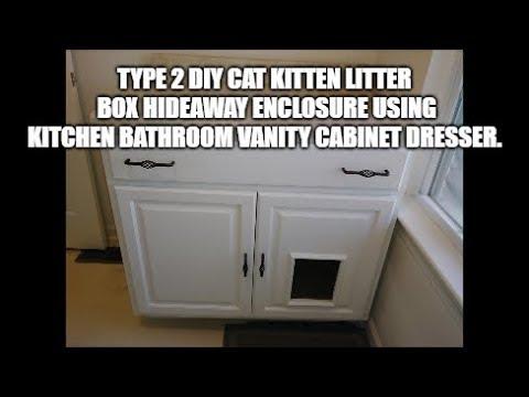 Type 2 Diy Cat Kitten Litter Box Hideaway Enclosure Using