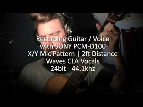 RECORDING TEST - SONY PCM D100 Hi-Def Handheld Field Recorder - Guitar Voice
