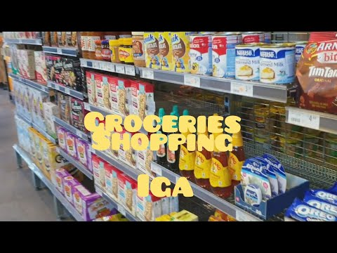 Groceries Shopping // IGA // Melbourne Vic Austrialia