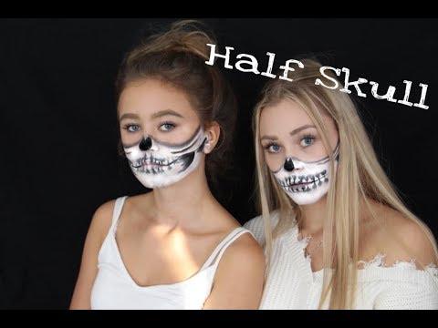 Half Skull Halloween Makeup Tutorial / Sydney Ra