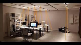 Освещение офиса точечными встраиваемыми светодиодными светильниками