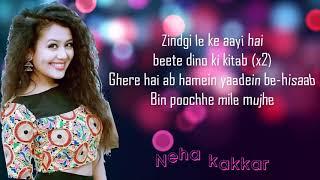 Gambar cover Tere liye Neha kakkar song by Best Lyrics