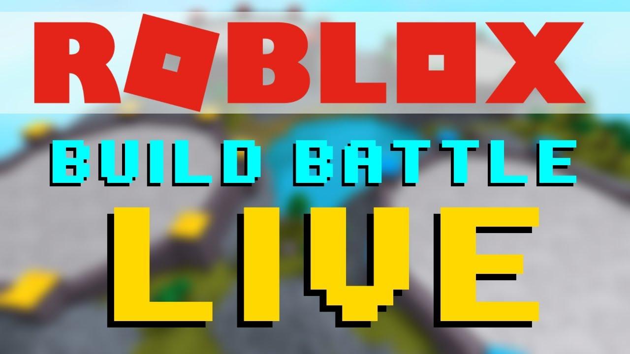 Build Fight Roblox Roblox Build Battle Live Youtube
