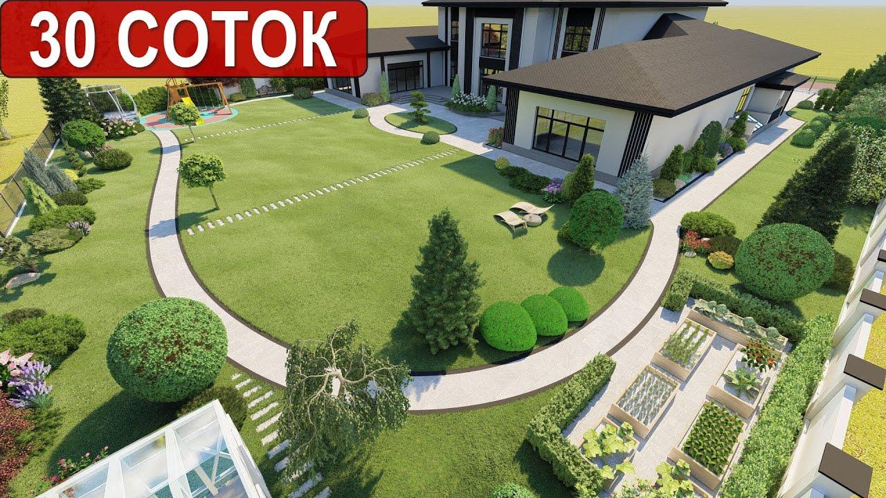 Ландшафтный дизайн участка Москва