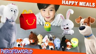 Unboxing Toy Review and Play of the 2016 McDonald's Secret Life of ...
