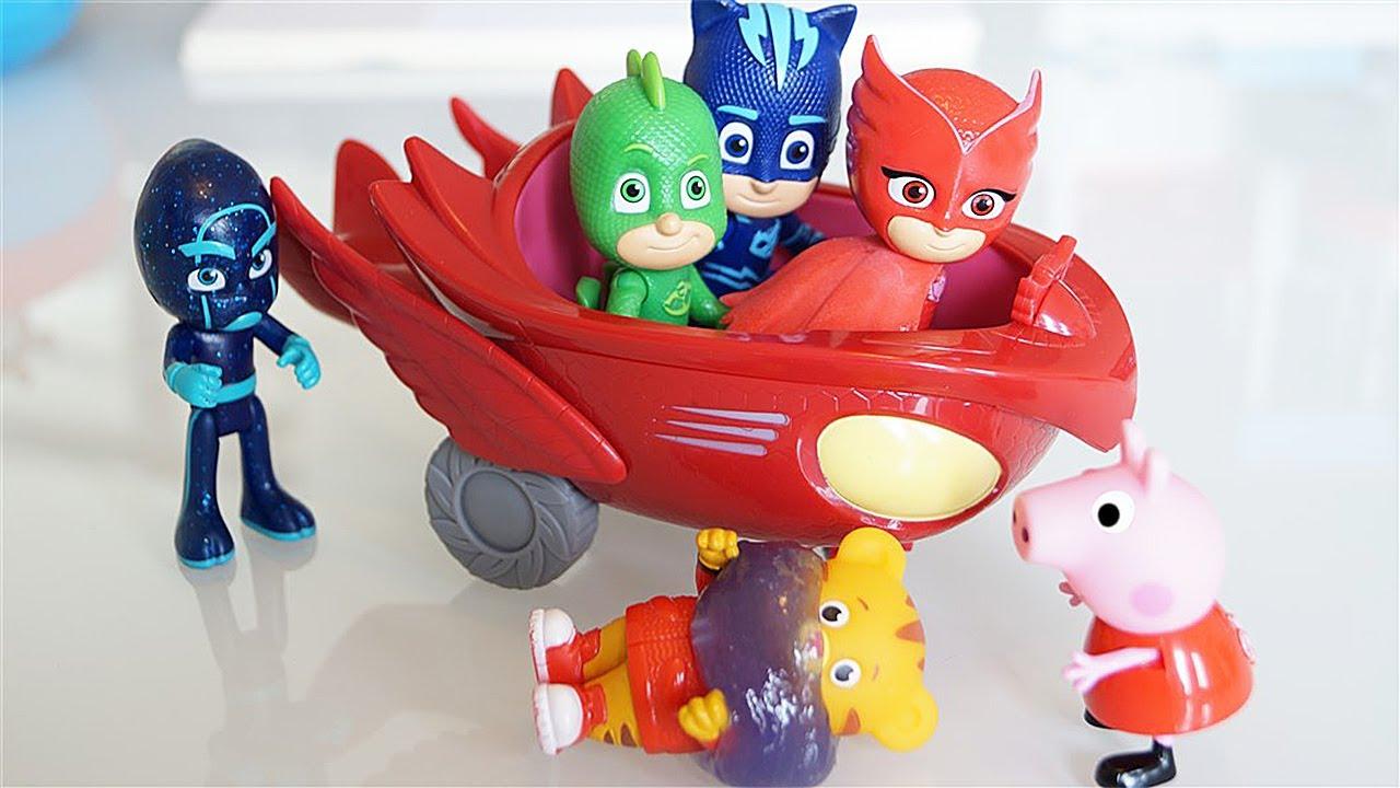I Pj Masks Super Pigiamini salvano Peppa Pig e Daniel Tiger dallo schizzo del Ninja della Notte